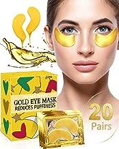 Under Eye Patches - iMethod Eye Mask for Puffy Eyes and Dark Circles, Under Eye Bags Treatment, Undereye Gel Pads 20 Pairs