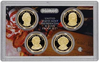 2008 S Presidential Dollar 4-coin Proof Set $1 DCAM - No Box or COA US Mint