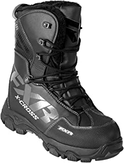 FXR X Cross Lace Winter Snowmobile Boot Insulated 600g -40C Fixed Fur Liner - Black Ops - Mens 9 / Womens 11
