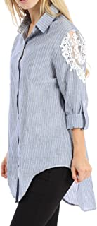 Best denim shirt with lace Reviews