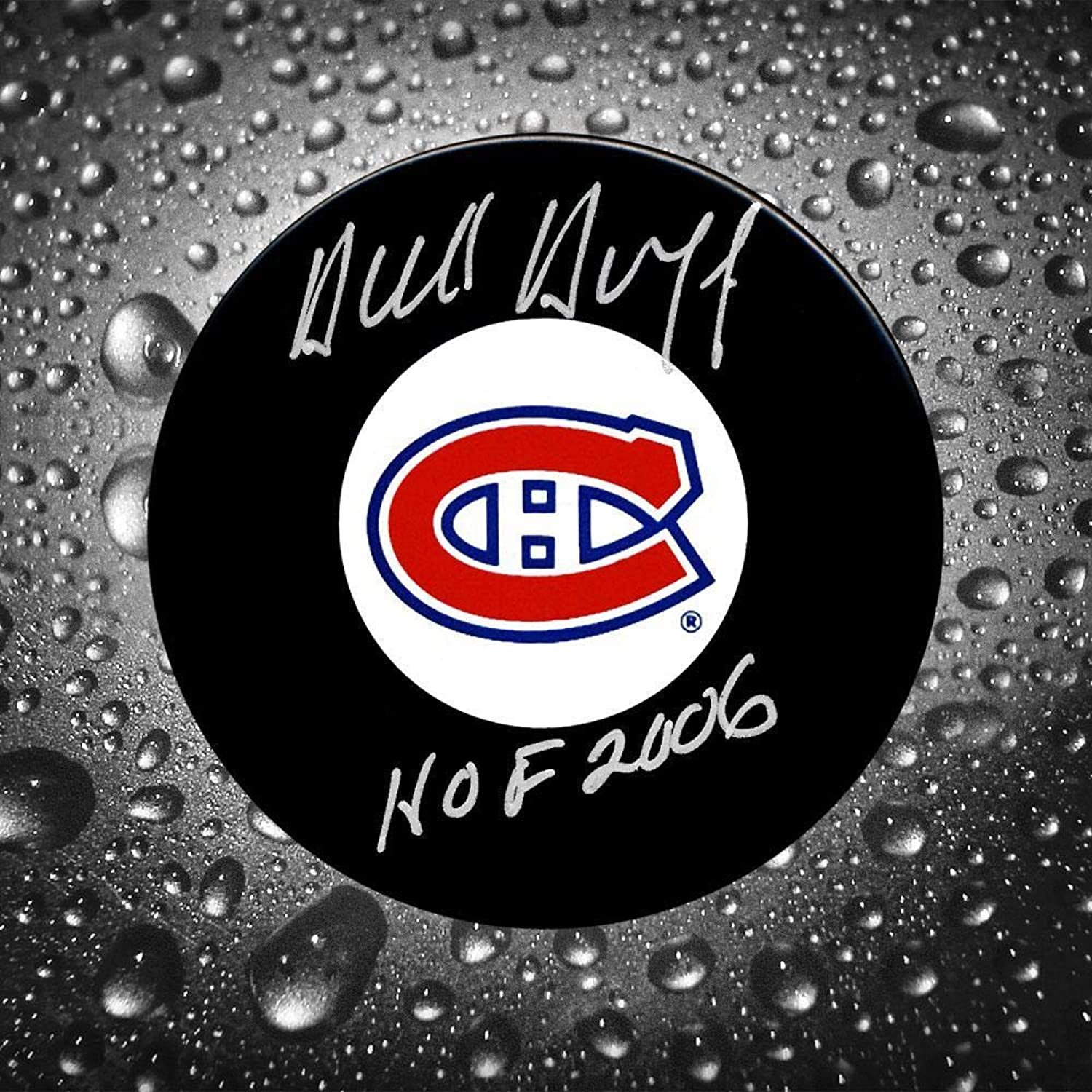 Dick Duff Signed Puck  HOF  Autographed NHL Pucks