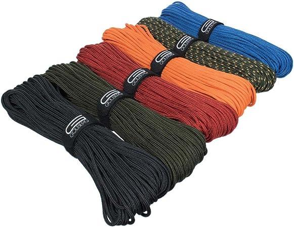 Golberg Premium - Cuerda trenzada de poliéster para accesorios – fabricada en Estados Unidos – tamaños de 3 mm, 4 mm, 5 mm o 6 mm – longitudes de 25, ...