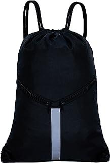 KORIDO Drawstring Backpack Unisex Sport Gym Sack, Black, Size One_Size