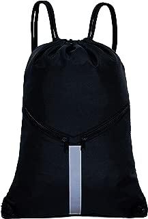 Drawstring Backpack Unisex Sport Gym Sack, Black, Size One_Size