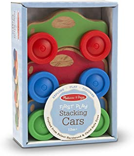Melissa & Doug Baby Toy Stacking Cars Wooden