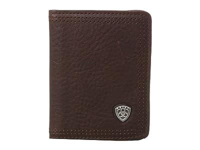 Ariat Ariat Shield Bi-Fold Wallet (Dark Copper) Wallet Handbags
