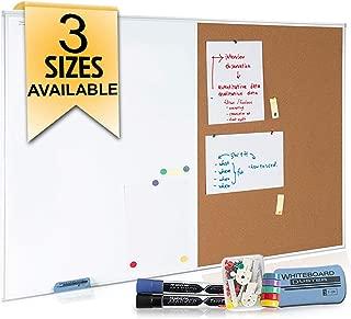whiteboard calendar and cork board