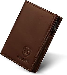 Portafoglio Uomo Pelle Porta Carte di Credito RFID Blocco Sottile Automatico Pop-up,Portafogli Senza Contatto di Protezion...