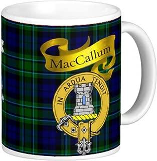 Scottish Clan MacCallum on 11 Oz. Ceramic Coffee Mug Clan crest on both sides