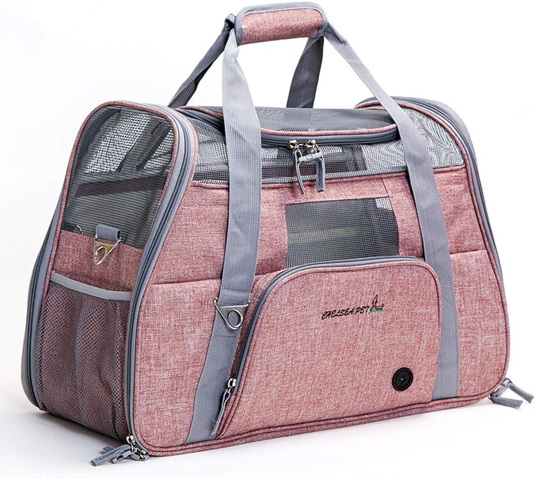 OneShoulder Portable Car Pet Out Carrying Bag Breathable Cat Dog Pet Cage Supplies Pet Light Bag Comprehensive Grid Design is Not Hot