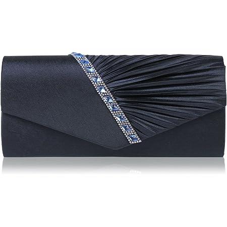 Damara Elegant Strassstein Damen Abendtasche Handtasche,Navyblau