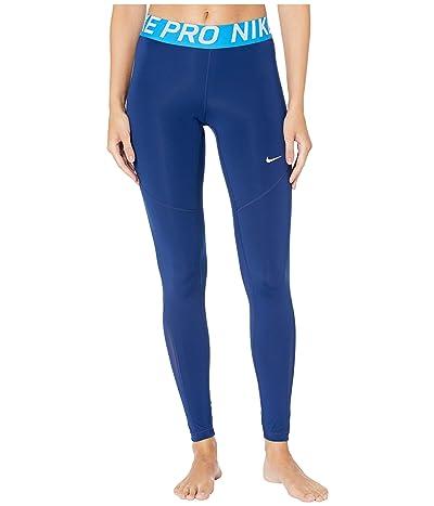 Nike Pro Tights (Blue Void/Light Photo Blue/White) Women