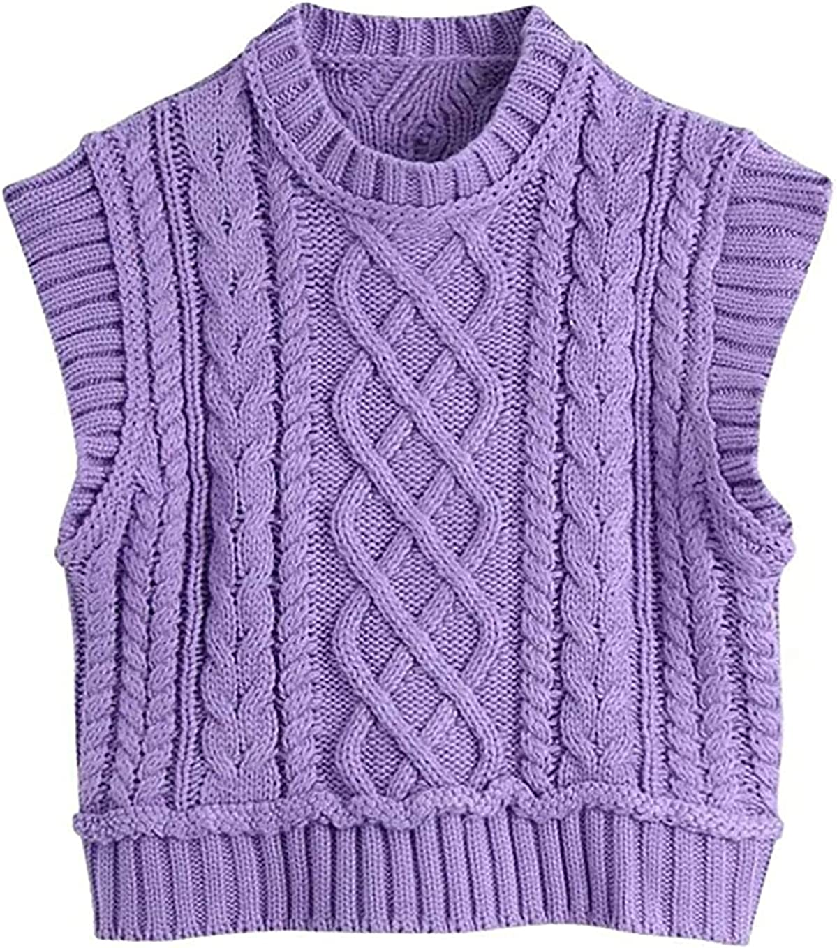 Women Fashion O Neck Ranking TOP8 Solid In stock Twist Sweater Sleevel Knitting Female