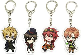 EBTY-Dreams Inc. - Set of 4 Code: Realize Guardian Of Rebirth (Sousei no Himegimi) Anime Acrylic Keychain Arsene Lupin, Victor Frankenstein, Abraham Van Helsing, Impey Barbicane