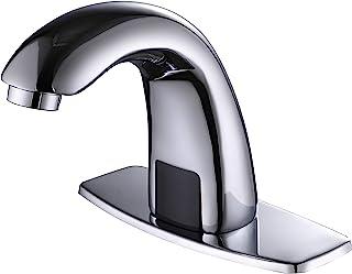 شیر آب گرمکن حمام کننده بدون سنسور Charmingwater با صفحه سوراخ سوراخ ، شیرهای کروم Vanity ، دست شیر آب حمام رایگان با جعبه کنترل و میکسر دما