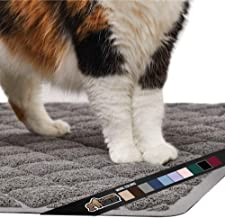 Gorilla Grip Original Premium Durable Cat Litter Mat, 35x23, XL Jumbo, Water Resistant, Traps Litter from Box and Cats, Scatter Control, Soft on Kitty Paws, Easy Clean Cat Mat, Gray