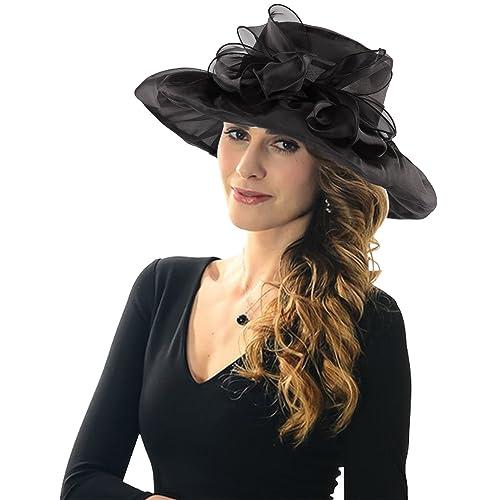 77bf3088b60 Acecharming Women Organza Kentucky Derby Fascinator Lady Cocktail Tea Party  Church Wedding Bridal Flower Hat