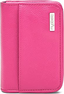 Myabetic Clemens Diabetes Case for Glucose Meter, Test Strips, Lancing Device and Lancets Includes Trash Pocket - High Quality Compact Design (Pink)
