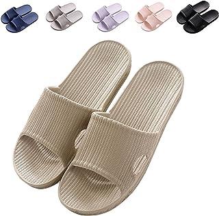 Minetom Femme Homme Thongs Été Pantoufles Unisexe Antidérapant Chaussons Plage Sandales Plates Chaussures Flip Flops Salle...