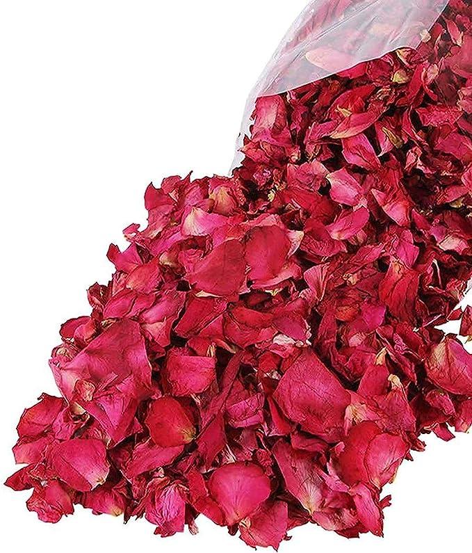 786 opinioni per Lvcky 100G Naturale Petali di Rosa essiccati Fiori Veri Dry Rosso Rose Petalo