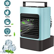OVPPH Portable Air Conditioner, Personal Air Cooler Fan Mini Evaporative Cooler Desk..