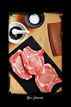 Raw Journal: Dot Grid Journal - Raw Food Ingredients Cooking Pork Flat Lay - black Dotted Diary, Planner, Gratitude, Writing, Travel, Goal, Bullet Notebook - 6x9 120 pages