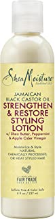 SheaMoisture Jamaican Black Castor Oil Strengthen & Restore Styling Lotion, 8 Ounce