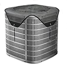 Foozet All Seasons Air Conditioner Cover Leaf Guard Central AC Cover Top for Outside Units Black (Mesh, 28