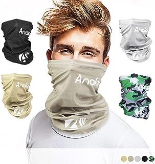 ANALAN Half Face Cover Bandana Neck Gaiter Sun Protection Headwear for Men and Women Girls Boys Outside Sports