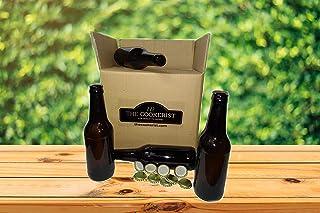 Set Botellas 33 cl y chapas para elaborar Cerveza en casa más Chapadora Doble Palanca de Regalo (16)