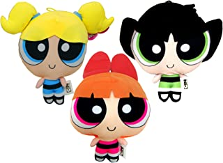 Powerpuff Girls Plush 3 Assorti,Plush Toy,Soft Toys,Official Licensed (Pack of 3 (Bubbles,Blossom,Buttercup))