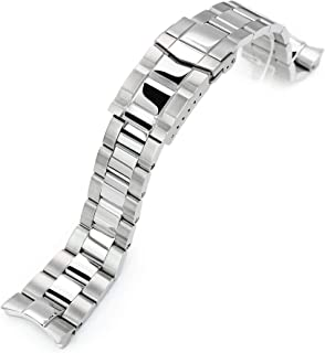 Strapcode Watch Bracelet 22mm Super 3D Oyster 316L Stainless Steel Watch Bracelet for Orient Triton, Submariner Clasp, Pol...