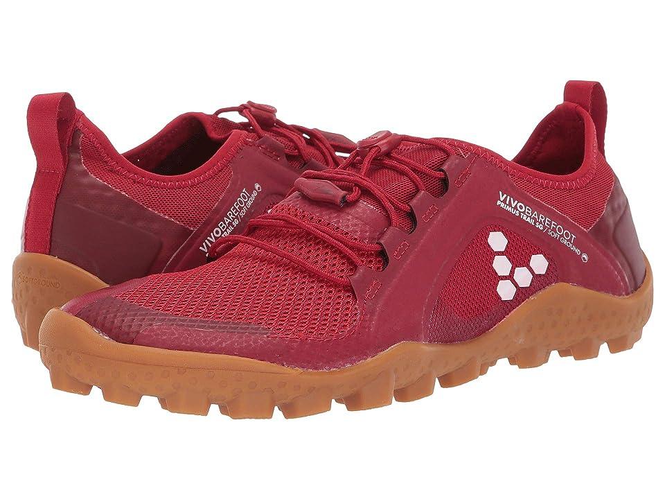Vivobarefoot Primus Trail SG Mesh (Red/Gum) Women