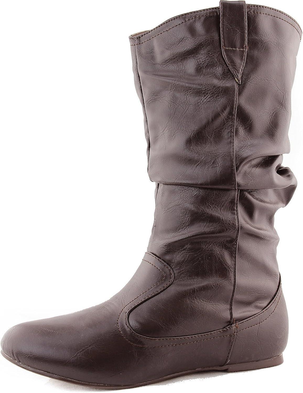 Top Moda Woherrar Life -7 Mid Knee Casual stövlar Mode Mode Mode skor  snabb leverans