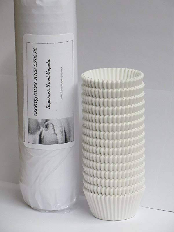 Mini Baking Cups White 1000 Pack