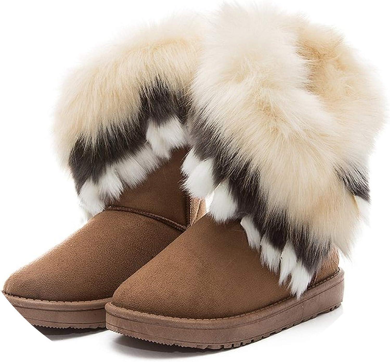 Women Boots Casual Rabbit Fur Warm Flats Boots Women Fashion Lady Snow Boots shoes Women women