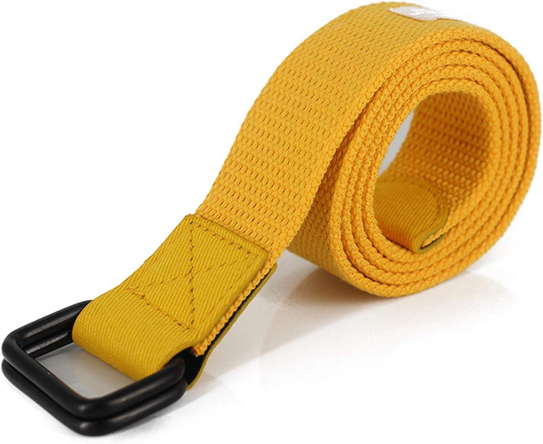 Industrial Belt Hip hop casual canvas belt for mens boys Yellow