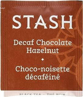 Stash Tea Decaf Chocolate Hazelnut Black Tea 100 Count Box of Tea Bags in Foil