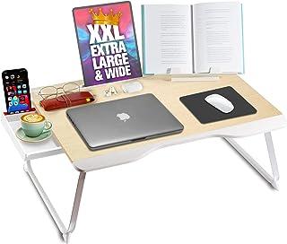 Cooper Mega Table [XXL Extra Large - Premium Build] Folding Bed Desk, Lap Desk & Laptop Table   Drawer, Book Stand, Lots o...