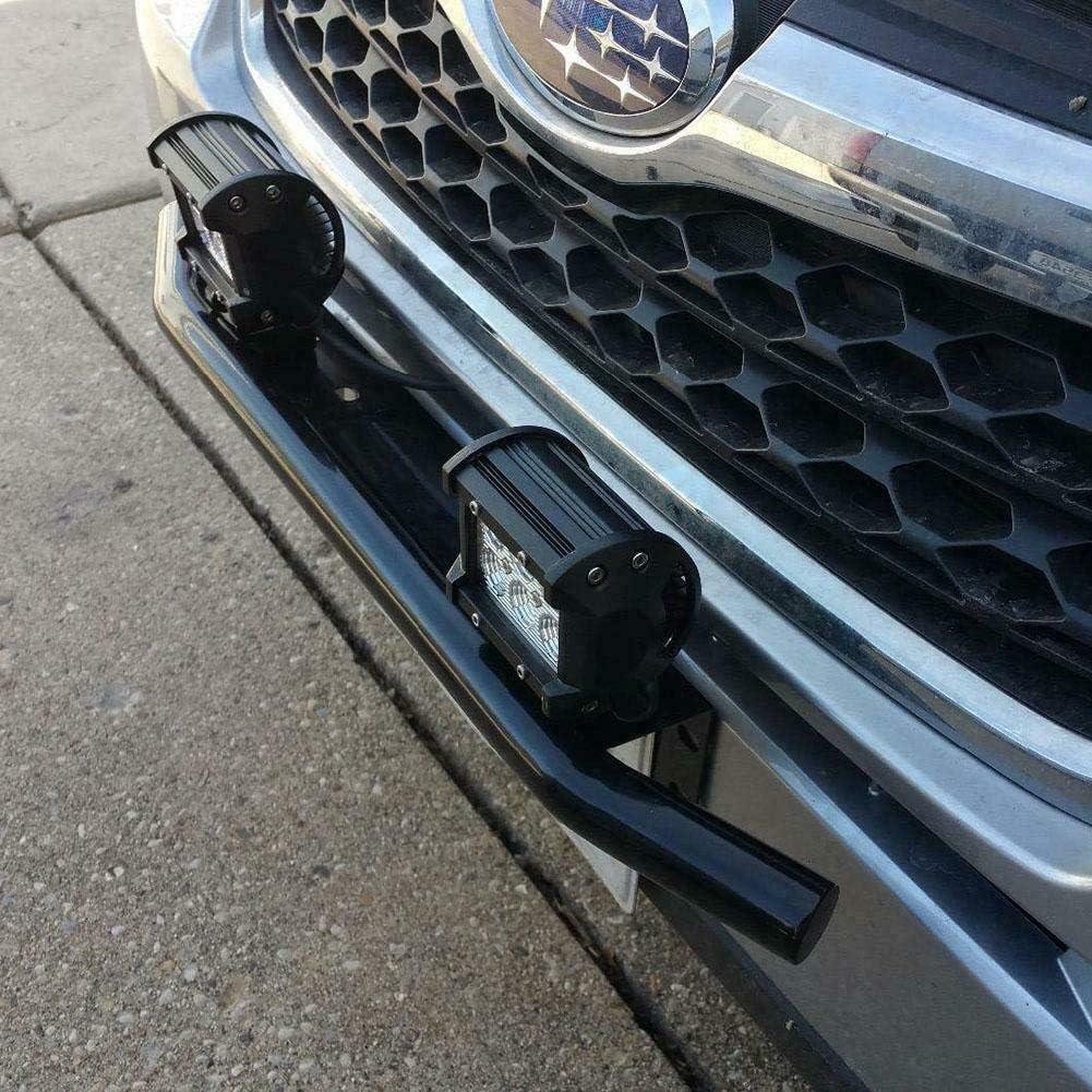 veh/ículos ATV SUV 4X4 para camiones etc. Willpower Soporte de soporte de placa de parachoques delantero de servicio pesado para barra de luces de trabajo LED