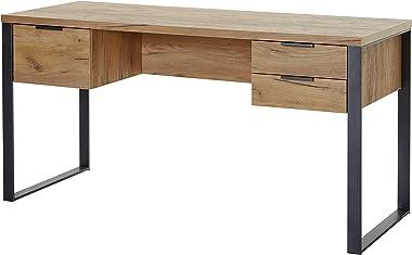 Marque Amazon -Movian Ems - Bureau à 3 tiroirs, 152,4x60x76,2cm, Finition chêne