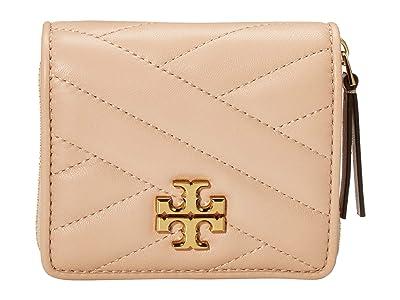 Tory Burch Kira Chevron Bifold Mini Wallet (Devon Sand) Handbags
