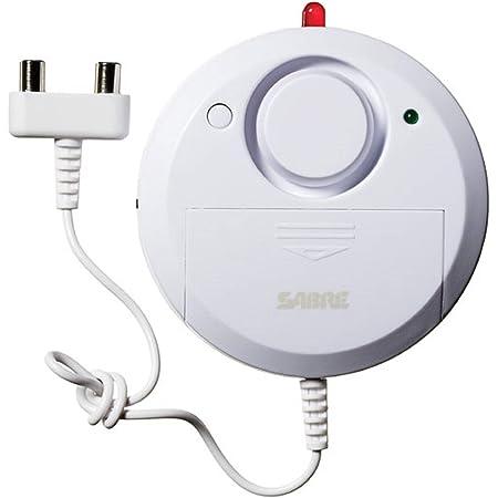 SABRE Wired Water Leak Flood Alarm Sensor with 110 dB Siren - DIY EASY Installation