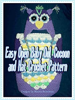 Easy Open Baby Owl Cocoon and Hat Crochet Pattern