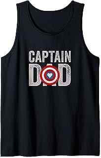 Super Captain Dad Superhero Débardeur