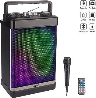 RHM Portable Karaoke Speaker with Microphone,PA System Bluetooth Speaker,Karaoke Machine..