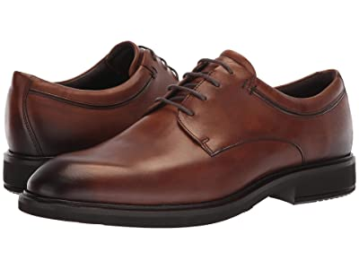 ECCO Vitrus II Plain Toe Tie (Amber) Men