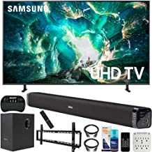 $597 » Samsung UN49RU8000 49-inch RU8000 LED Smart 4K UHD TV (2019) Bundle with Deco Gear Soundbar with Subwoofer, Wall Mount Kit, Deco Gear Wireless Keyboard, Cleaning Kit and 6-Outlet Surge Adapter