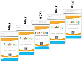 Fushing 60pcs noms verticaux plastiques élastiques, supports de cartes d'identité et badges de badges métalliques avec des...