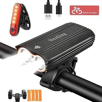 Bike Light Set Super Bright USB RECHARGEABLE Bicycle Light 4 Modes Adjustable UK